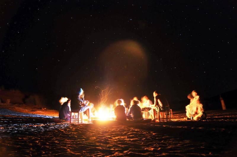 night in sahara desert