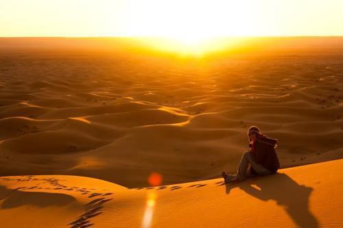 sunrise  Morocco erg chebbi